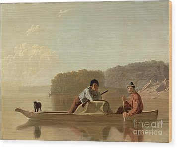 The Trapper's Return Wood Print by George Caleb Bingham