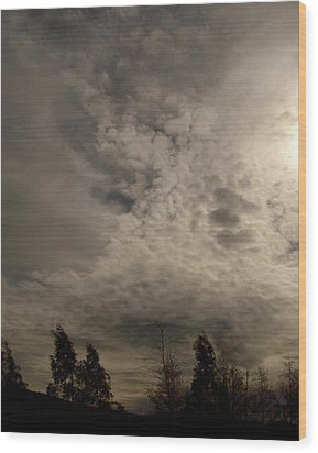 The Tree Cloud Wood Print by Barbara Stirrup