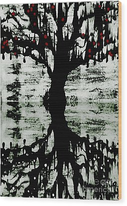 The Tree The Root Wood Print by Amy Sorrell