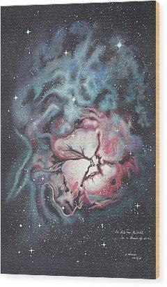The Trifid Nebula Wood Print by Patsy Sharpe