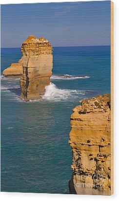 The Twelve Apostles In Port Campbell National Park Australia Wood Print by Louise Heusinkveld