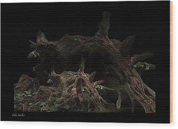 The Twist Of Nature Wood Print by Debra     Vatalaro