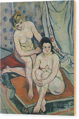 The Two Bathers Wood Print by Marie Clementine Valadon