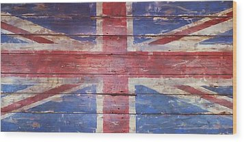 The Union Jack Wood Print by Anna Villarreal Garbis