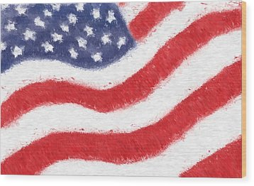 The United States Flag Wood Print by Heidi Smith