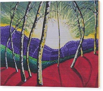 The Valley Wood Print by Kris LeBlanc