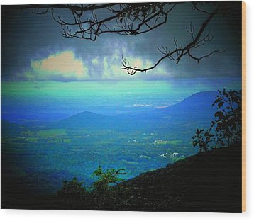 The Valley Wood Print by Michael L Kimble