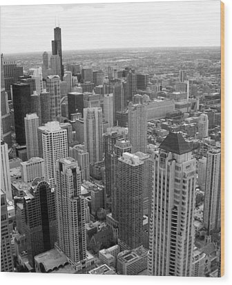 The View From Above Wood Print