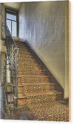 The Villa Rosa Apartments Building Wood Print by Dan Kaufman