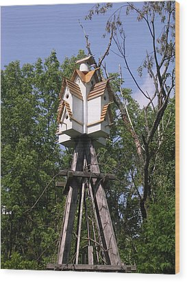 The Village Wood Print by Gordon Wendling