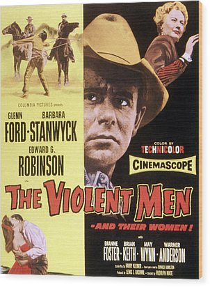 The Violent Men, Glenn Ford, Barbara Wood Print by Everett