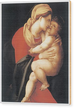 The Virgin And Child Wood Print by Jacopo Da Pontormo