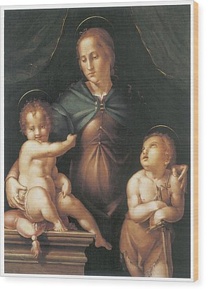 The Virgin And Child  Wood Print by Pier Francesco Foschi