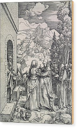 The Visitation, The Virgin And St Wood Print by Everett