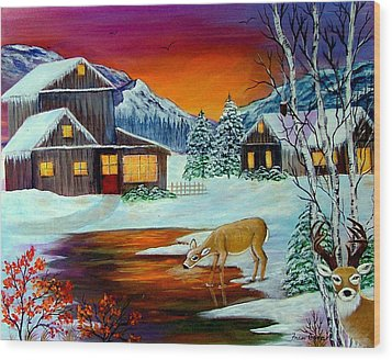 The Visitors Wood Print by Fram Cama