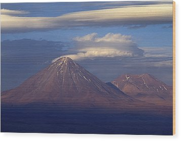 The Volcano Llicancabur. Republic Of Bolivia. Wood Print by Eric Bauer