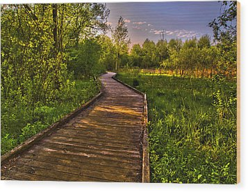 The Walk Wood Print by Jason Naudi Photography