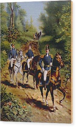 The War Of 1812, U.s. General Staff Wood Print by Everett