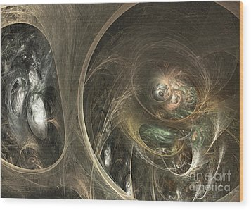 The Watcher Of Two Worlds Wood Print by Sipo Liimatainen
