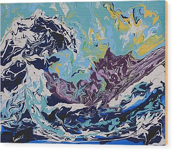 The Wave After Hokusai Wood Print