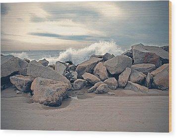Wild Ocean Wood Print