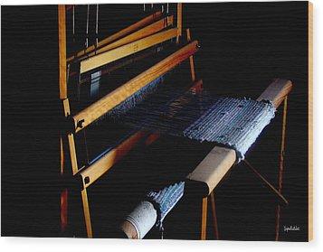 The Weavers Loom Wood Print by Stephen Paul West