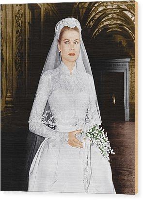 The Wedding In Monaco, Grace Kelly, 1956 Wood Print by Everett