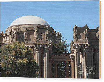 The Weeping Maidens Of The San Francisco Palace Of Fine Arts - 5d18305 Wood Print by Wingsdomain Art and Photography