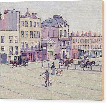 The Weigh House - Cumberland Market Wood Print by Robert Polhill Bevan