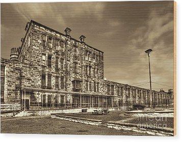 The West Virginia State Penitentiary Backside Wood Print by Dan Friend