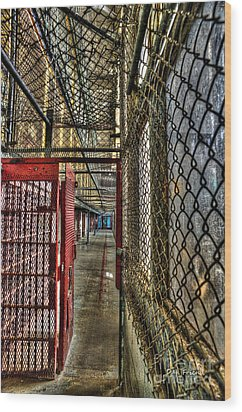 The West Virginia State Penitentiary Cell Hallway Wood Print by Dan Friend