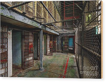The West Virginia State Penitentiary Cells Wood Print by Dan Friend