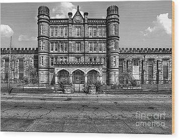 The West Virginia State Penitentiary Front Wood Print by Dan Friend