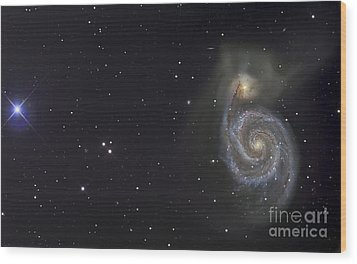 The Whirlpool Galaxy Wood Print by R Jay GaBany