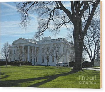 Wood Print featuring the photograph The White House by Victoria Lakes