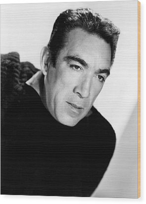 The Wild Party, Anthony Quinn, 1956 Wood Print by Everett