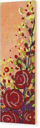 The Wild Roses Wood Print by Jennifer Lommers