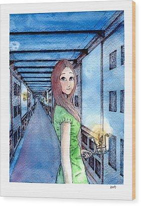 The Winchester Mystery House Wood Print by Katchakul Kaewkate