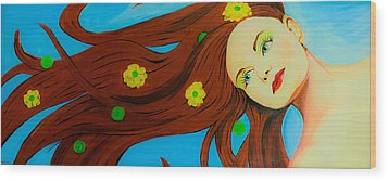 The Wind Blows A Kiss Wood Print by Chris  Leon