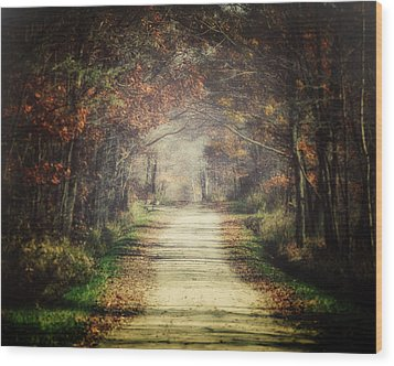 The Winding Road Wood Print by Lisa Russo