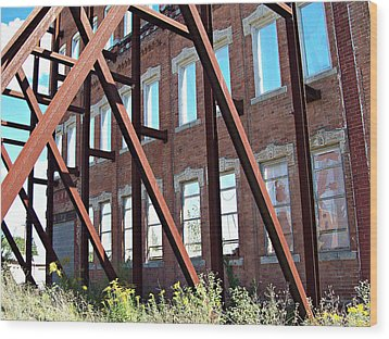 Wood Print featuring the photograph The Window Wall by MJ Olsen