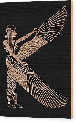 The Winged Isis Wood Print by Jim Ross