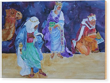 The Wisemen Wood Print by Suzy Pal Powell