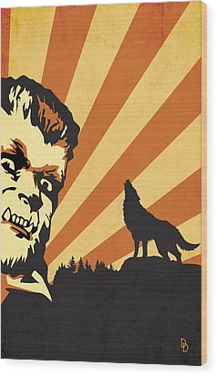 The Wolfman Wood Print by Dave Drake