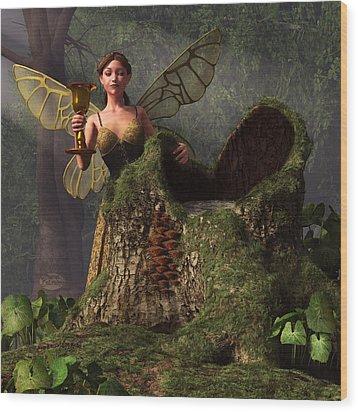 The Wood Sprite Wood Print by Daniel Eskridge