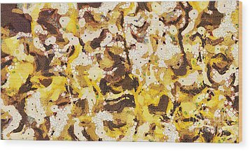 The Yellow Paintings Wood Print by Odon Czintos