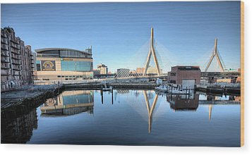 The Zakim Wood Print by JC Findley