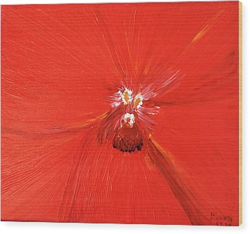 The Zoom Of Red Orchid Wood Print by Pretchill Smith