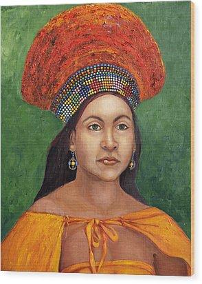 The Zulu Bride Wood Print by Enzie Shahmiri