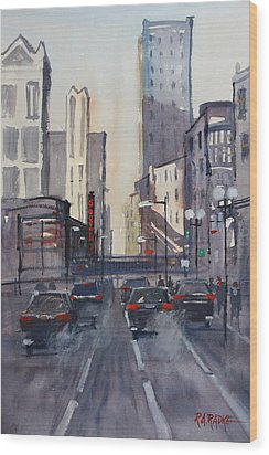 Theatre District - Chicago Wood Print by Ryan Radke